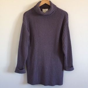 Express TRICOT   Pullover Turtleneck Tunic Sweater
